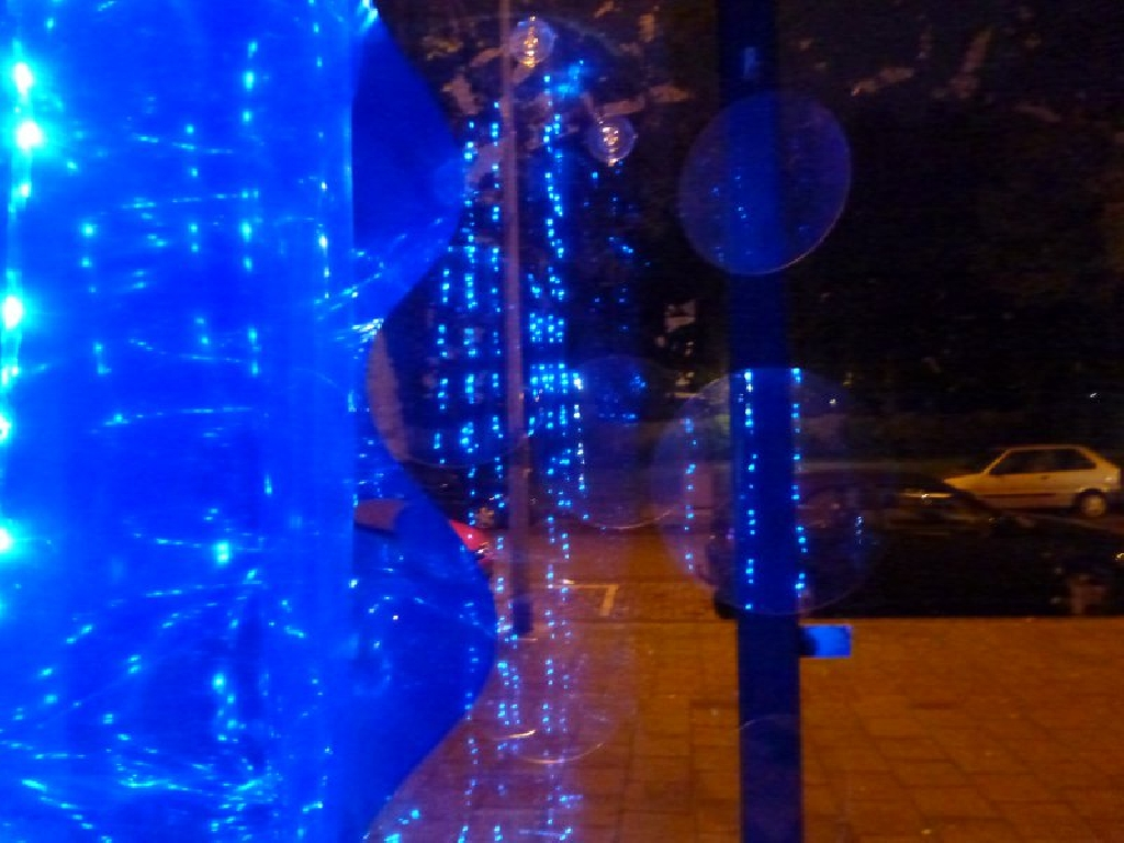 Detail light sculpture Waterfall and under water lights Anita Doornhein